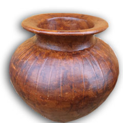 outdoor pottery wood color antique